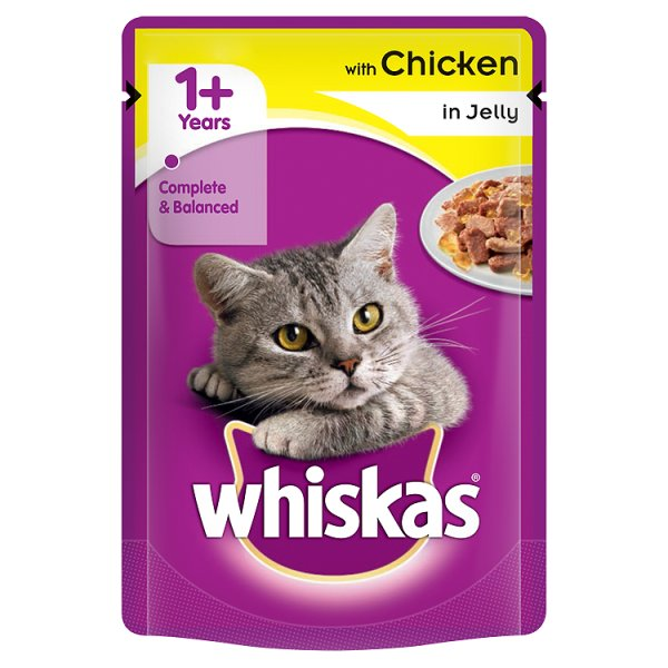 WHISKAS POUCH CHICKEN JELLY 3Fï¾£1