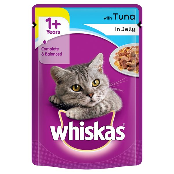 WHISKAS POUCH TUNA JELLY 3Fï¾£1