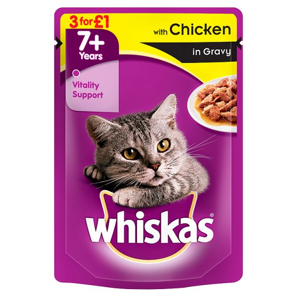 WHISKAS POUCH CHICKEN IN GRAVY 3Fï¾£1