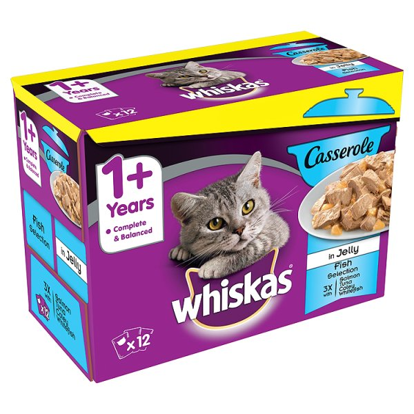 WHISKAS POUCH CASSEROLE SELECTION FISH PM ï¾£3.99