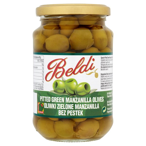 BELDI PITTED GREEN OLIVES