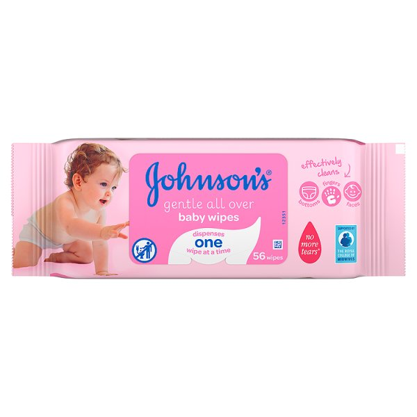 JOHNSONS BABY WIPES GENTLE