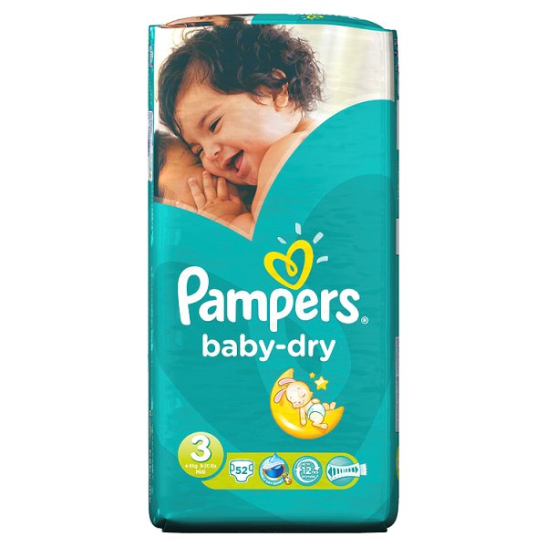 PAMPERS BABYDRY ESSENTIAL PACK MIDI SZ3