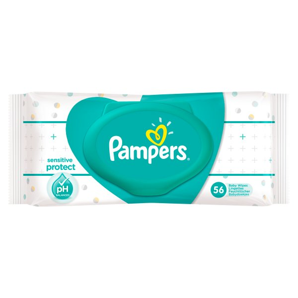 PAMPERS SENSITIVE WIPES 56PK