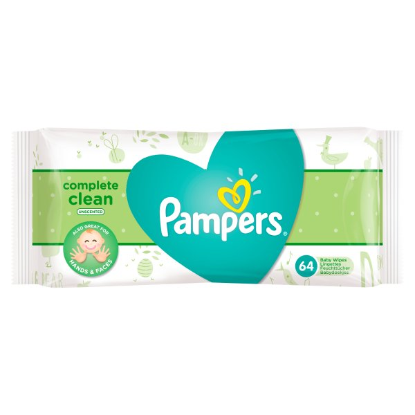 PAMPERS BABY FRESH UNSCENTED WIPES 64PK
