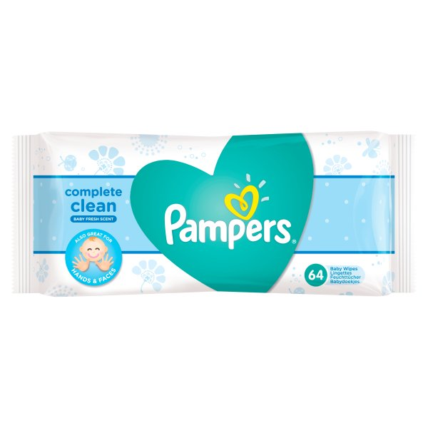 PAMPERS BABY FRESH WIPES 64PK