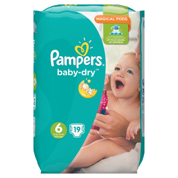 PAMPERS BABYDRY XL SZ6