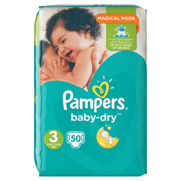 PAMPERS BABYDRY MIDI ESSENTIAL SZ3