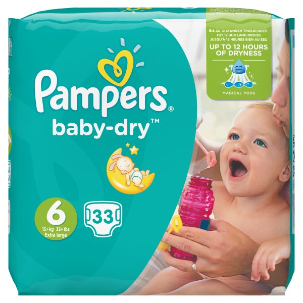 PAMPERS BABYDRY ESSENTIAL XL SZ6