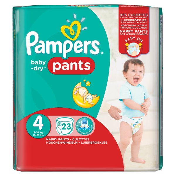 PAMPERS BABYDRY PANTS SZ4 CARRY PACK