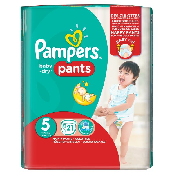 PAMPERS BABYDRY PANTS SIZE 5 CARRY PACK