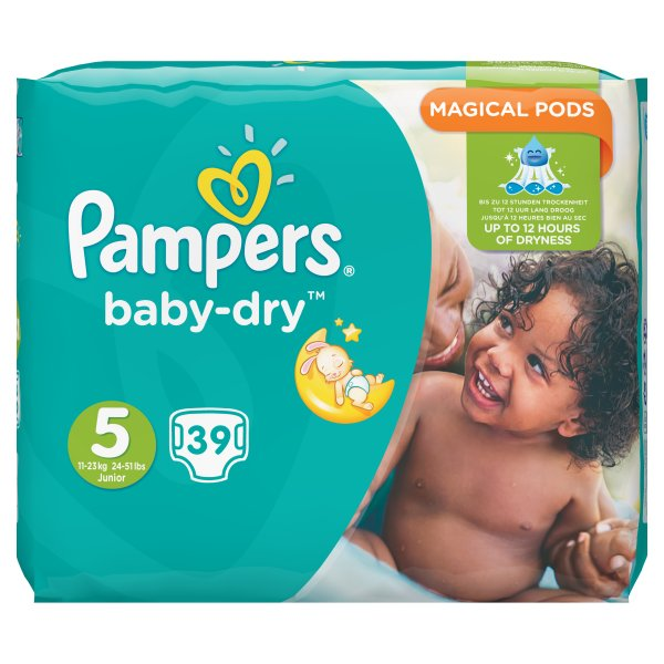 PAMPERS BABYDRY ESSENTIAL JUNIOR SZ5