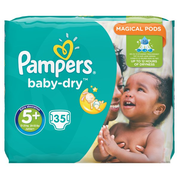 PAMPERS BABYDRY ESSENTIAL JUNIOR+ SZ5+