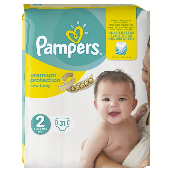PAMPERS NEW BABY SIZE 2