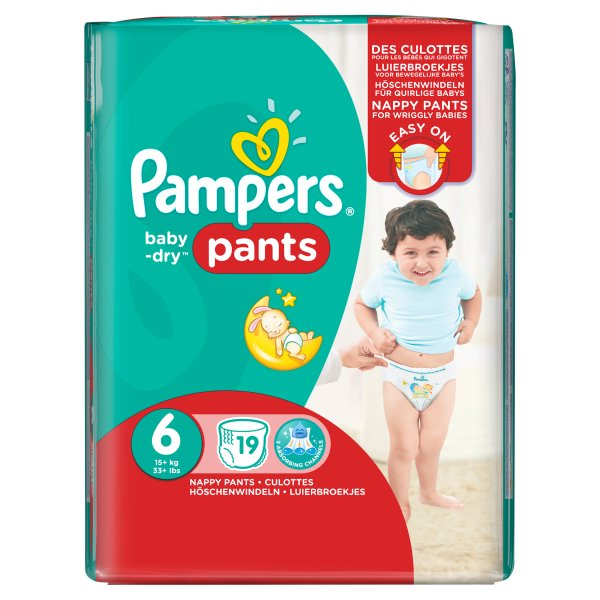 PAMPERS BABYDRY PANTS SIZE 6 CARRY PACK