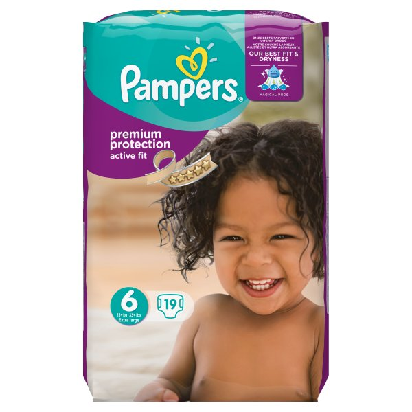 PAMPERS ACTIVE FIT SZ 6 CARRY PK