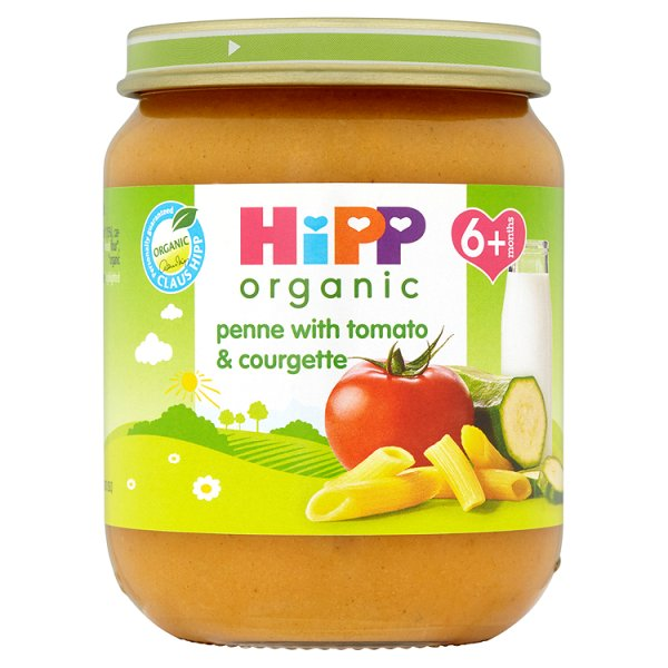 HIPP ORGANIC PENNE TOMATO/COURGETTE 4MONTHS