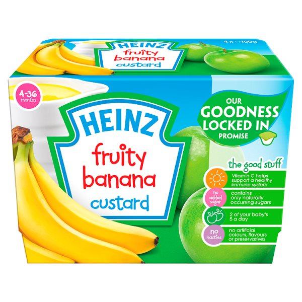 HEINZ FRUITY CUSTARD BANANA