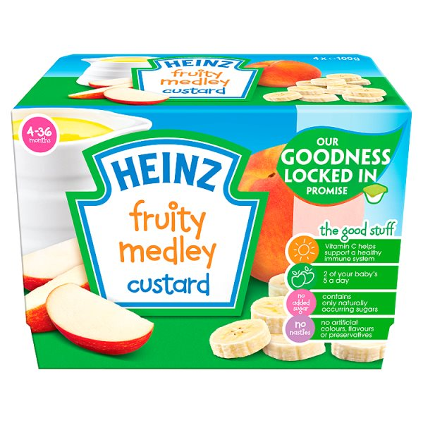 HEINZ FRUITY CUSTARD FRUIT MEDLEY