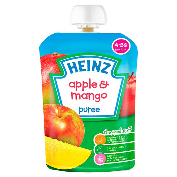 HEINZ FRUIT POUCH APPLE/MANGO STAGE 1