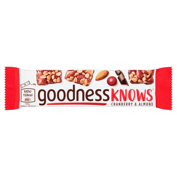 GOODNESS KNOWS CRANBERRY/ALMOND