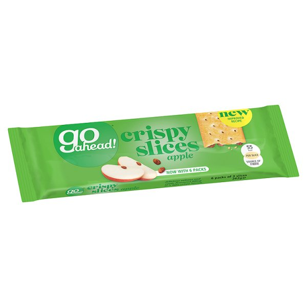 GO AHEAD CRISPY FRT SLICES APPLE/SULTANA 6PK