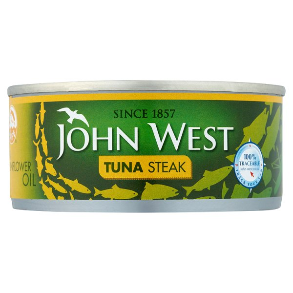 J WEST TUNA STEAKS IN OIL