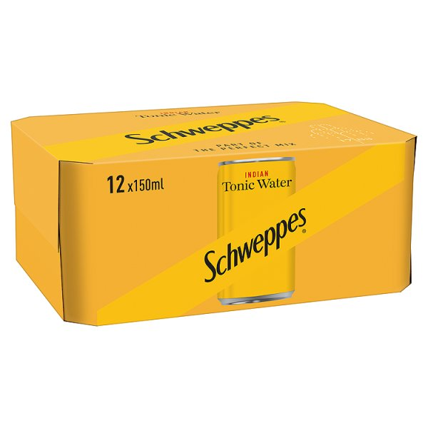 SCHWEPPES TONIC WATER MINI CAN 12PK