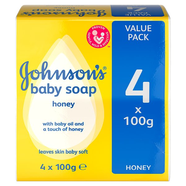 JOHNSONS BABY SOAP 4PK