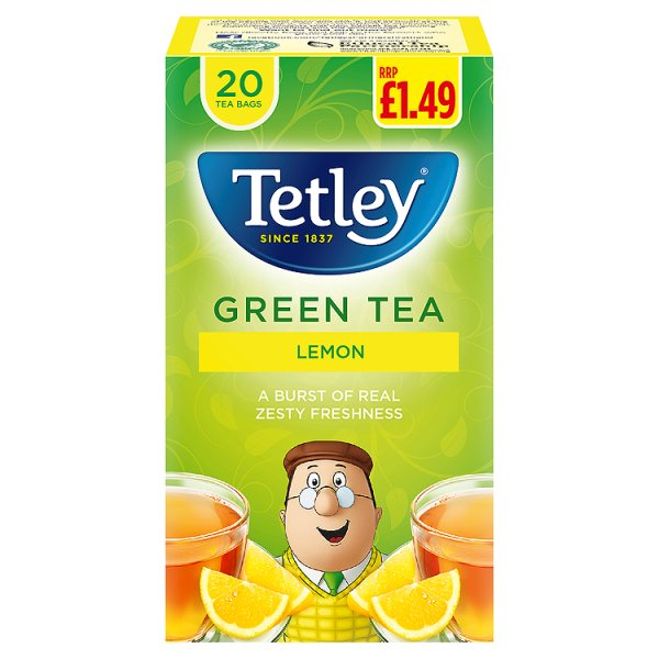 TETLEY GREEN/LEMON TEA BAGS PMï¾£1.49