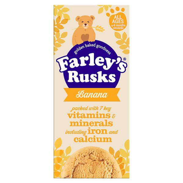 FARLEYS RUSKS REDUCED SUGAR BANANA