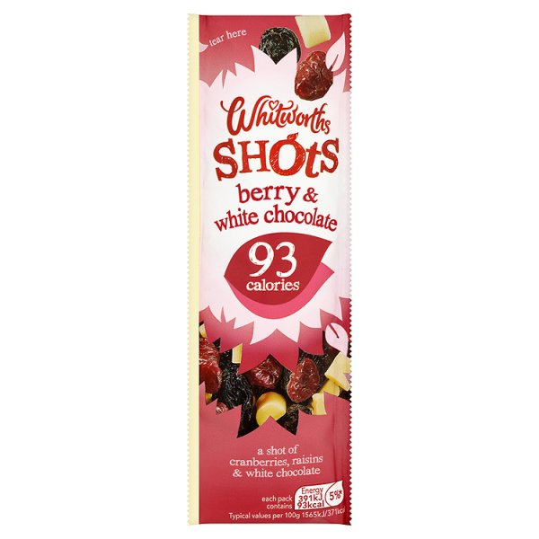 WHITWORTHS BERRY/ WHITE CHOC SHOTS