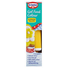 D/OETKER YELLOW GEL FOOD COLOUR