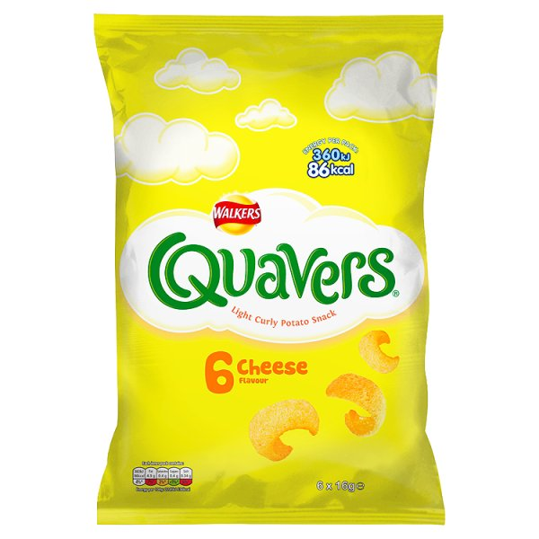 QUAVERS CHEESE 6PK