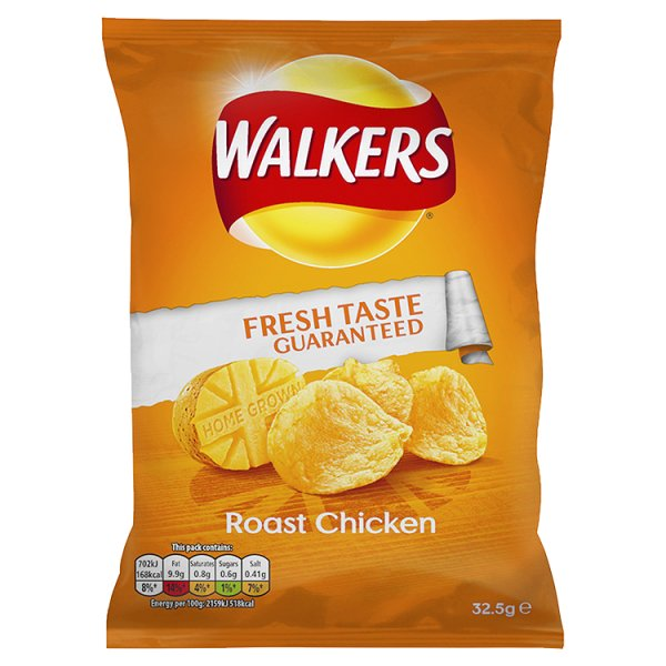 WALKERS CRISPS ROAST CHICKEN
