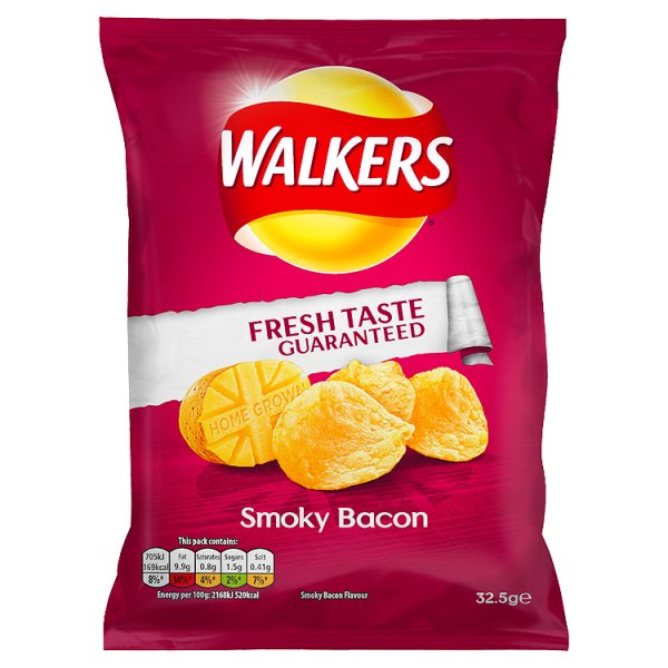 WALKERS CRISPS SMOKEY BACON