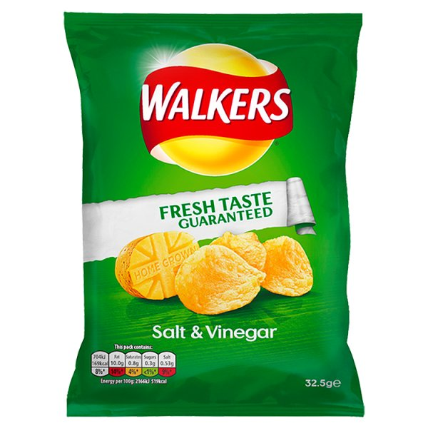WALKERS CRISPS SALT & VINEGAR