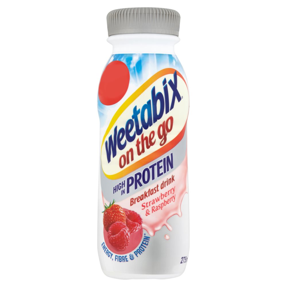 WEETABIX PROTEIN DRINK STRAWBERRY & RASPBERRY PM£1.50