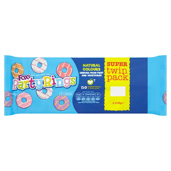 FOXS PARTY RINGS TWIN PACK