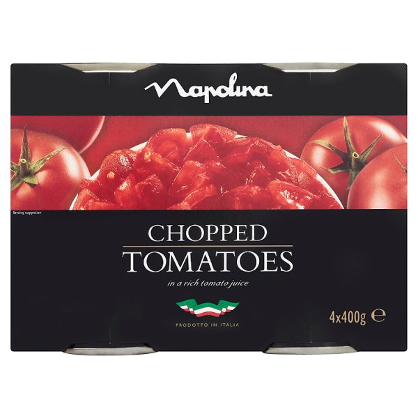 NAPOLINA CHOPPED TOMATOES 4PK
