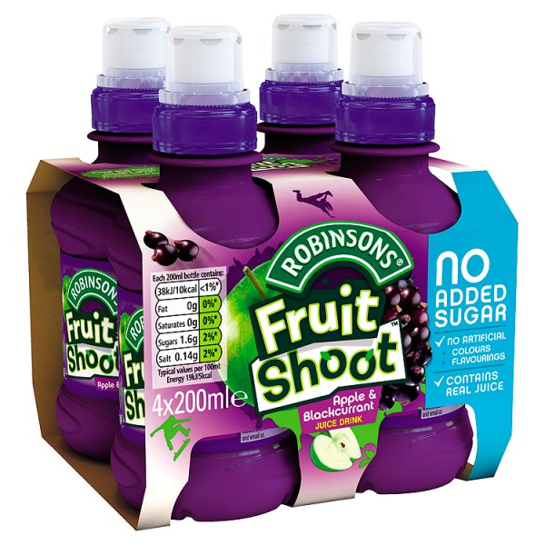 ROBINSONS F/SHOOT APPLE & BLACKCURRANT NAS 4PK