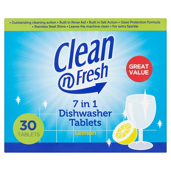 CLN/FRSH TABS 7IN1 LEMON