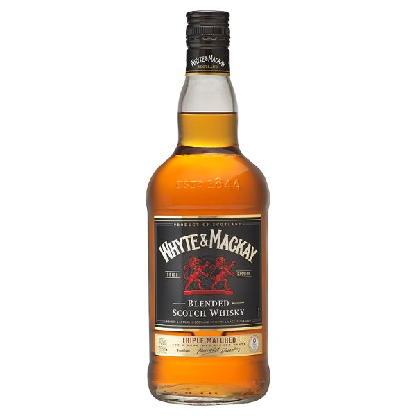 WHYTE & MACKAY 40% INCL FREE GLASS