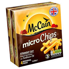 MCCAIN QUICK CHIPS STRAIGHT CUT GLUTEN FREE