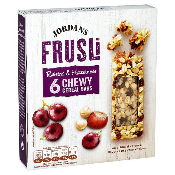JORDANS FRUSLI RAISIN/HAZLENUT CEREAL BAR