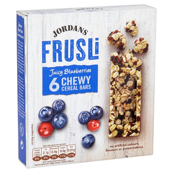 JORDANS FRUSLI BLUEBERRY CEREAL BAR