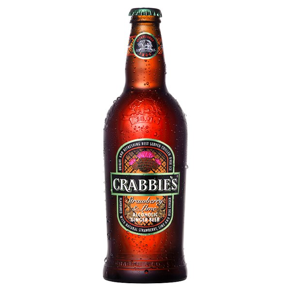 CRABBIES STRAWBERRY & LIME GINGER ALE