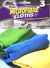 SQ/CLEAN 3PK MFIBRE CLOTH*