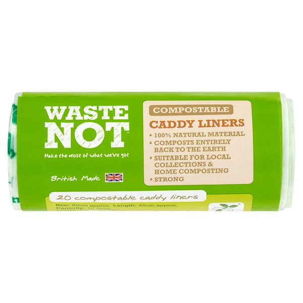WASTE NOT COMPOSTABLE CADDY LINERS 10L