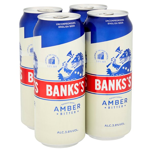 BANKS'S BITTER 4PK CAN 3.8%